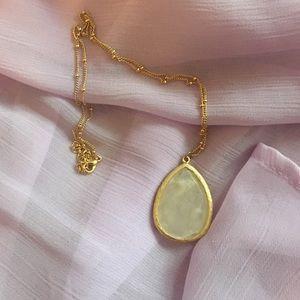 Jewelry - Teardrop stone necklace